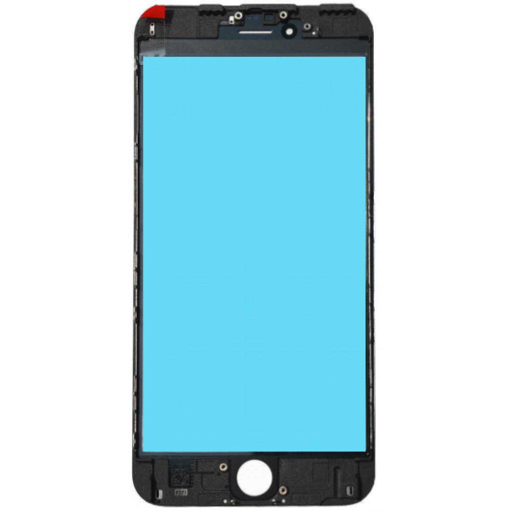 Стекло дисплея с OKA плёнкой и рамкой для iPhone 6S Plus, черное