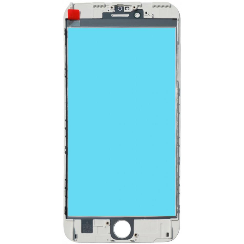 Стекло дисплея с OKA плёнкой и рамкой для iPhone 6S Plus, белое