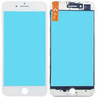 Стекло дисплея с OCA плёнкой и рамкой для iPhone 8 Plus, белое