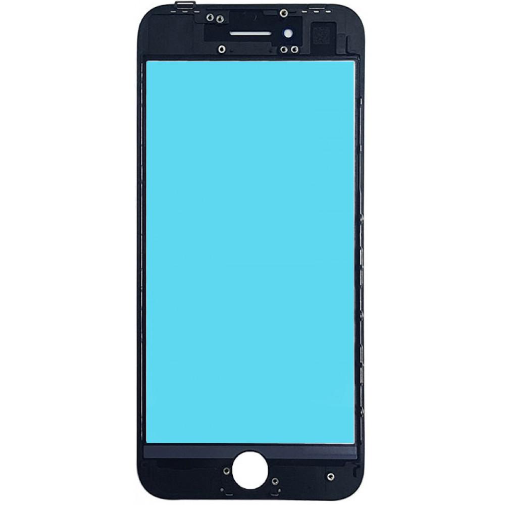 Стекло дисплея с OCA плёнкой и рамкой для iPhone 8, черное