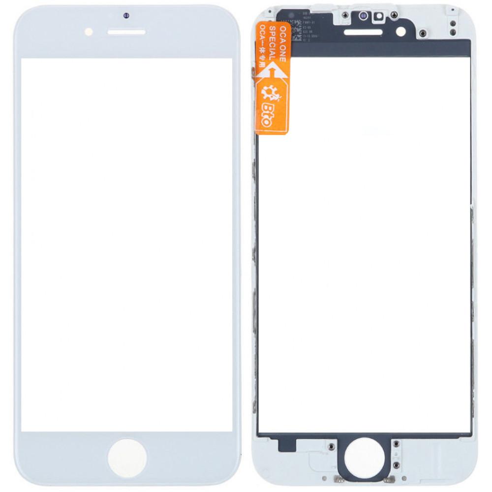 Стекло дисплея с рамкой для iPhone 6 белое