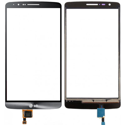 Сенсорное стекло (тачскрин) для LG G3, серебро