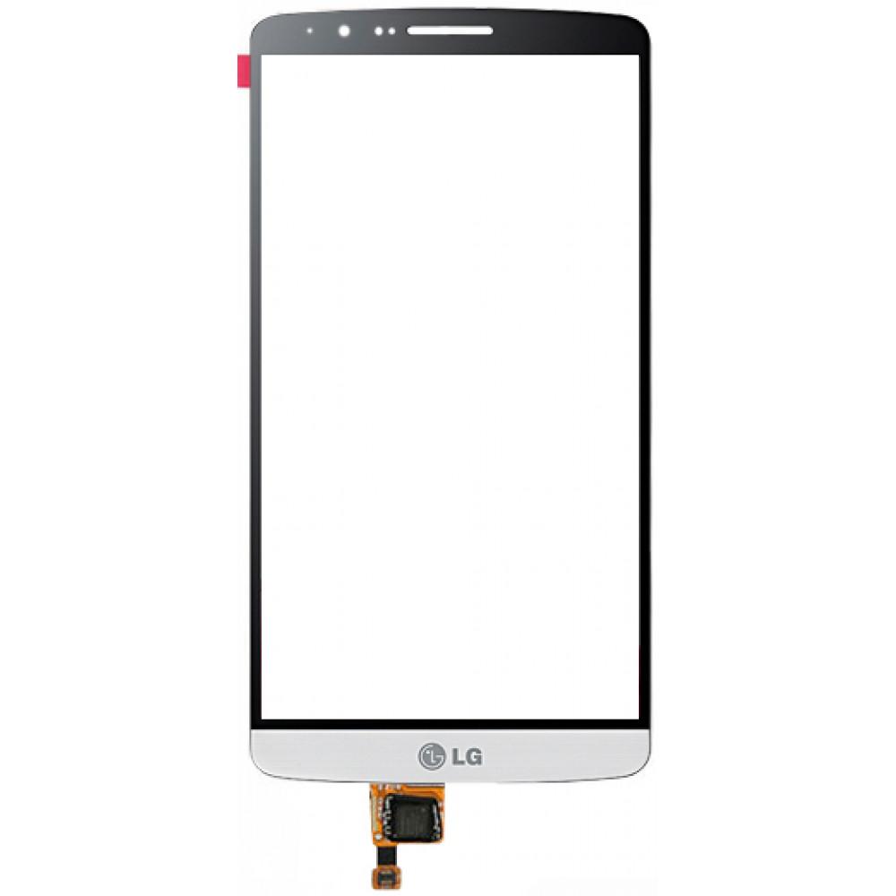 Сенсорное стекло (тачскрин) для LG G3, белое