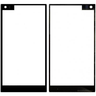 Сенсорное стекло (тачскрин) для LG Q8, черное