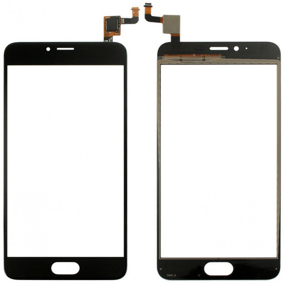Сенсорное стекло (тачскрин) для Meizu M5, черное