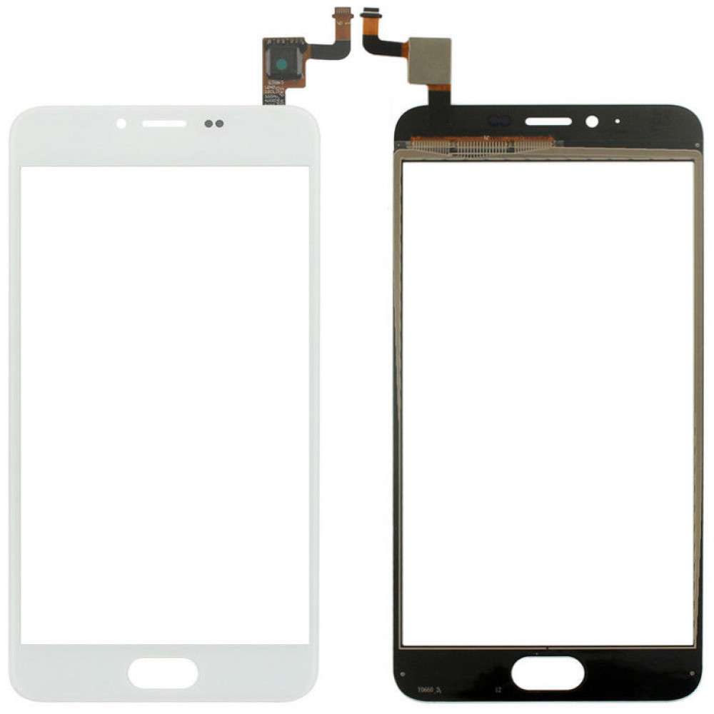 Сенсорное стекло (тачскрин) для Meizu M5, белое