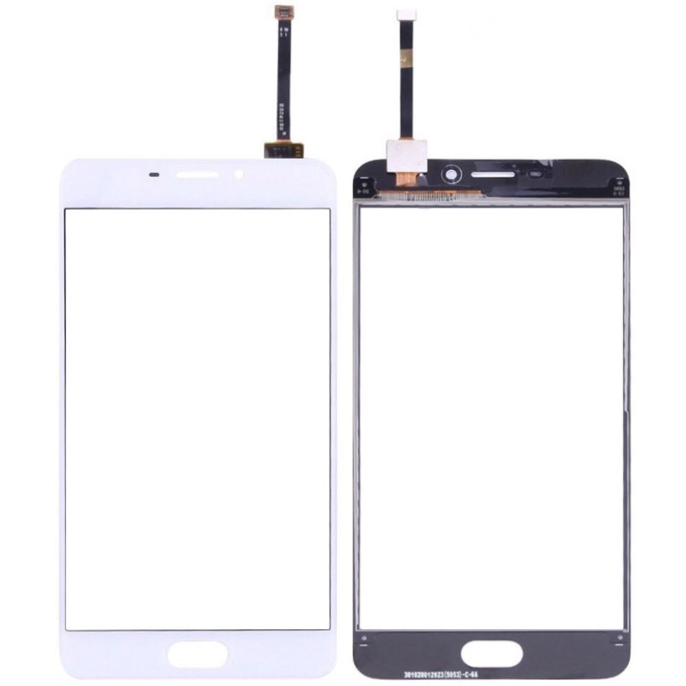 Сенсорное стекло (тачскрин) для Meizu M5 Note, белое