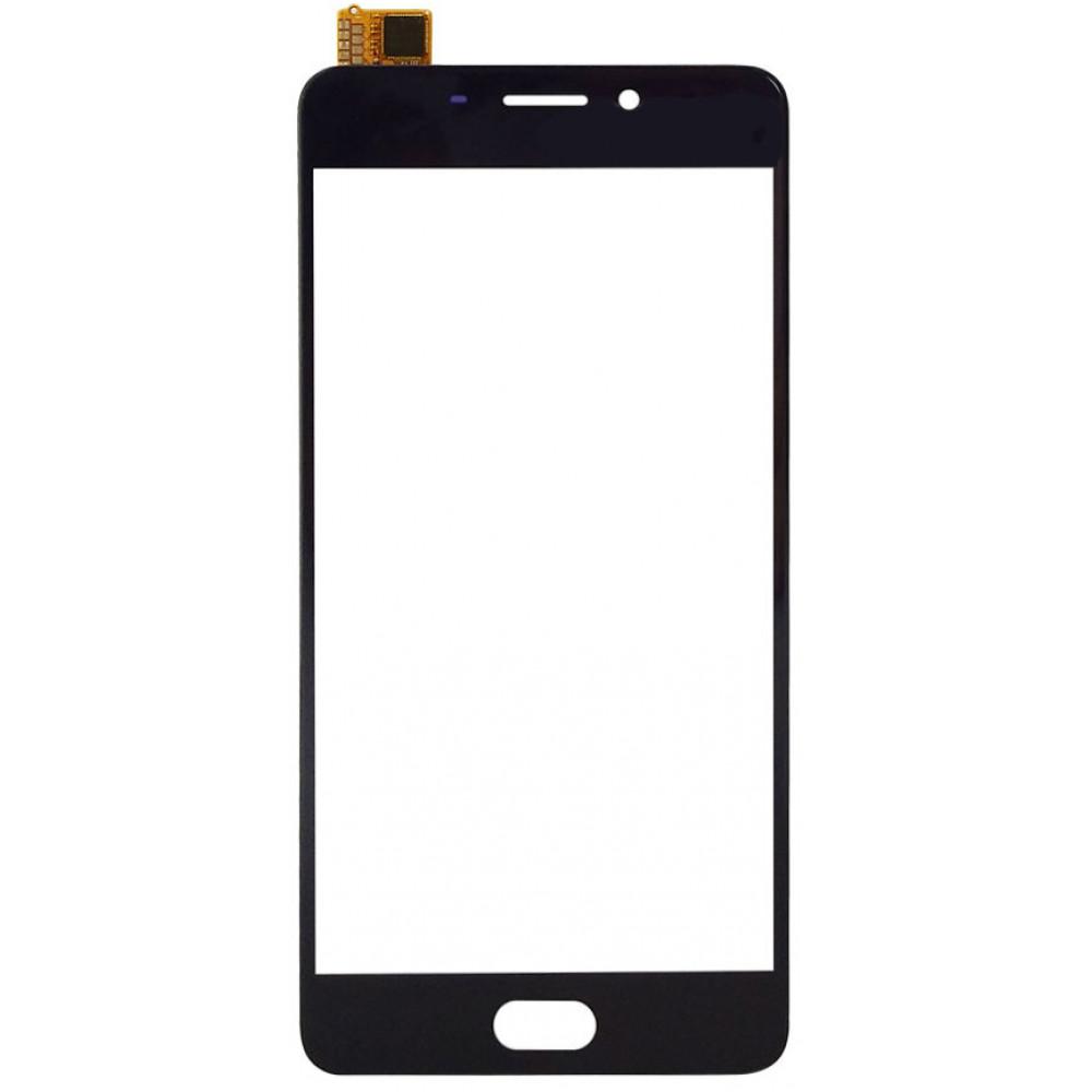 Сенсорное стекло (тачскрин) для Meizu M6 Note, черное