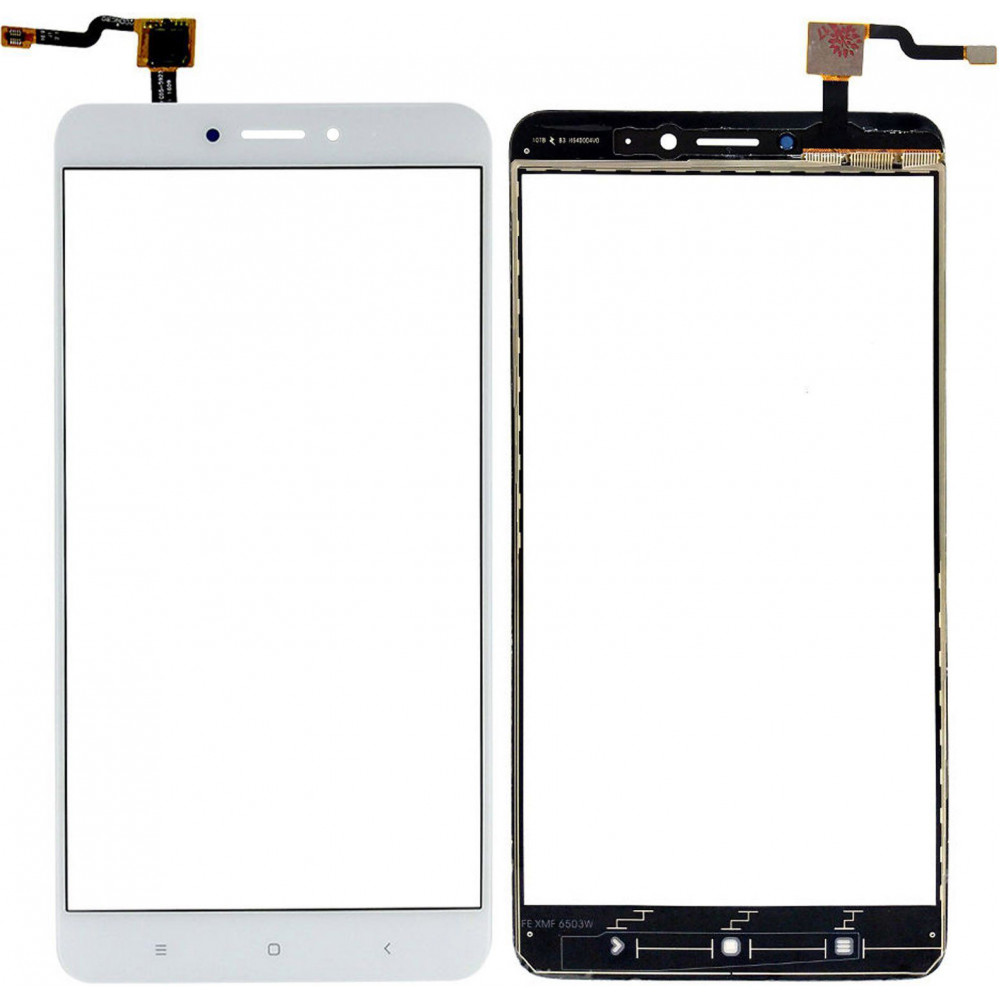 Сенсорное стекло (тачскрин) для Xiaomi Mi Max 2, белое