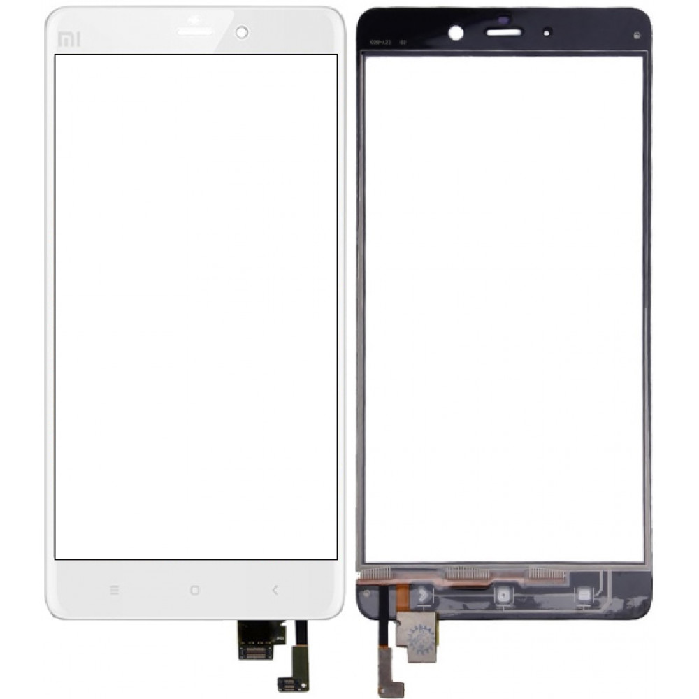 Сенсорное стекло (тачскрин) для Xiaomi Mi Note Pro, белое