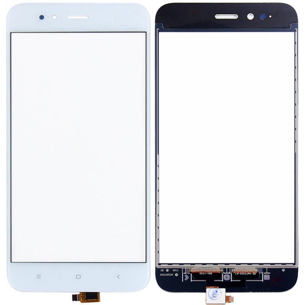 Сенсорное стекло (тачскрин) для Xiaomi Mi 5X / Mi A1, белое