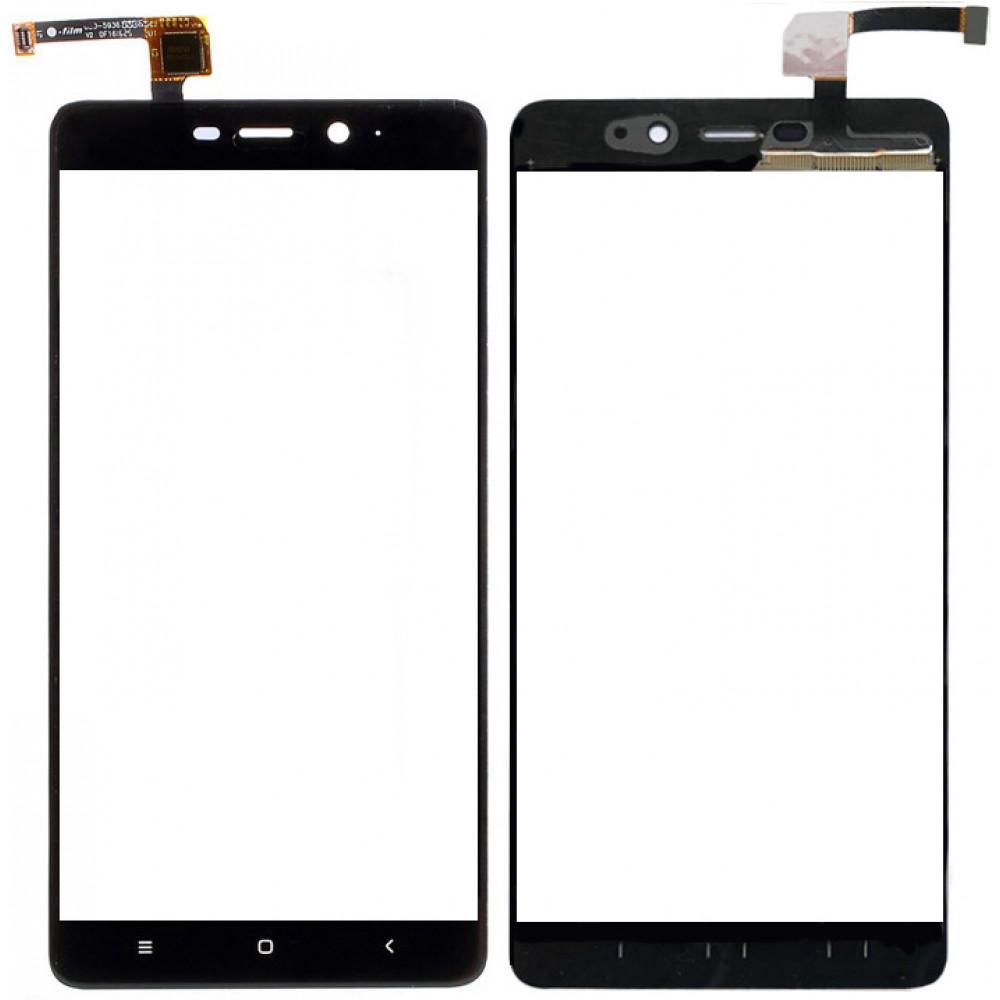 Сенсорное стекло (тачскрин) для Xiaomi Redmi 4 Pro, черное