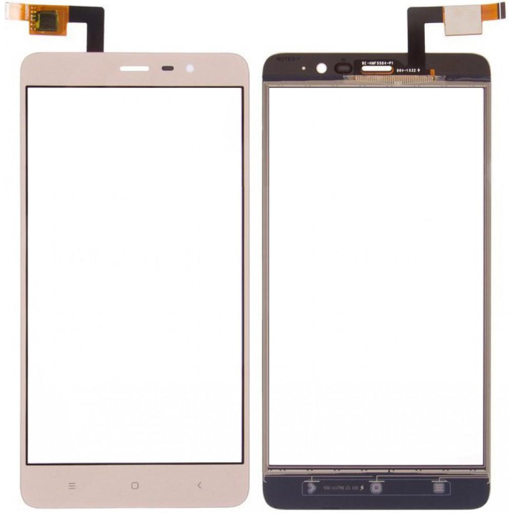 Сенсорное стекло (тачскрин) для Xiaomi Redmi Note 3/ Redmi Note 3 Pro, золото