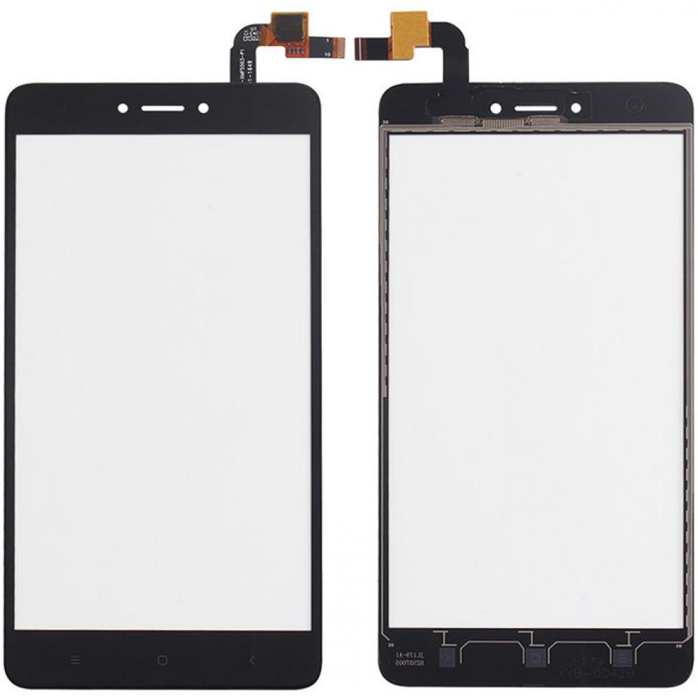 Сенсорное стекло (тачскрин) для Xiaomi Redmi Note 4X, черное