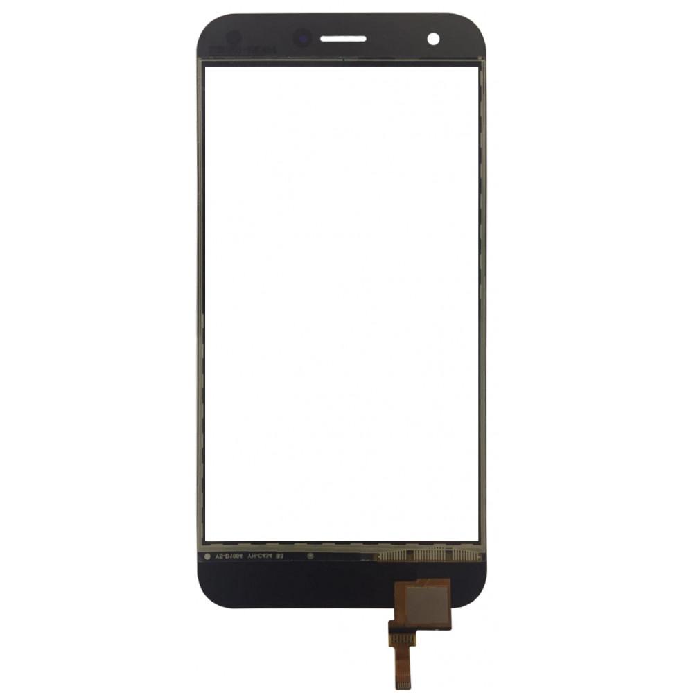 Сенсорное стекло (тачскрин) для ZTE Blade A512, черное