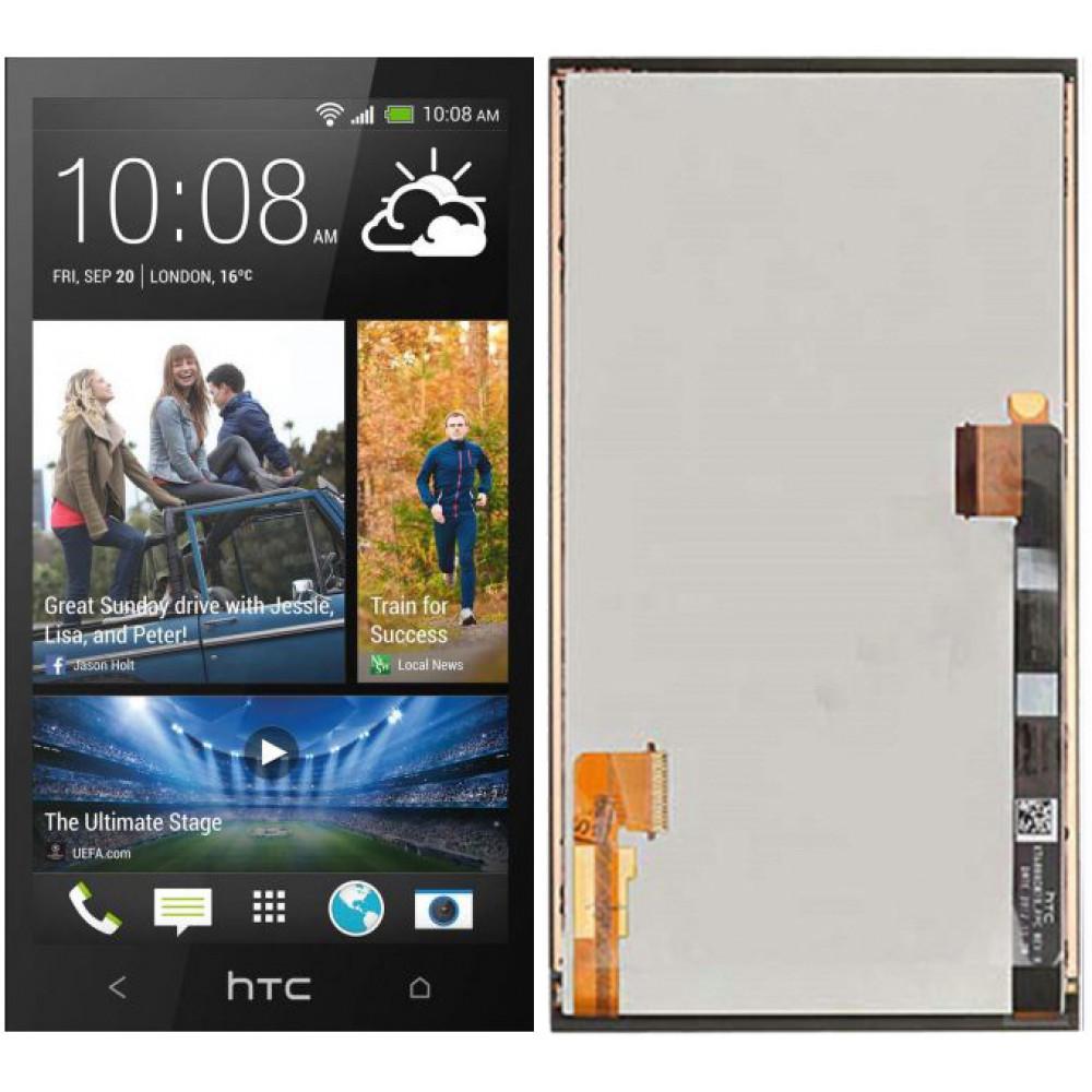 Дисплей для HTC One M7 в сборе с тачскрином, черный