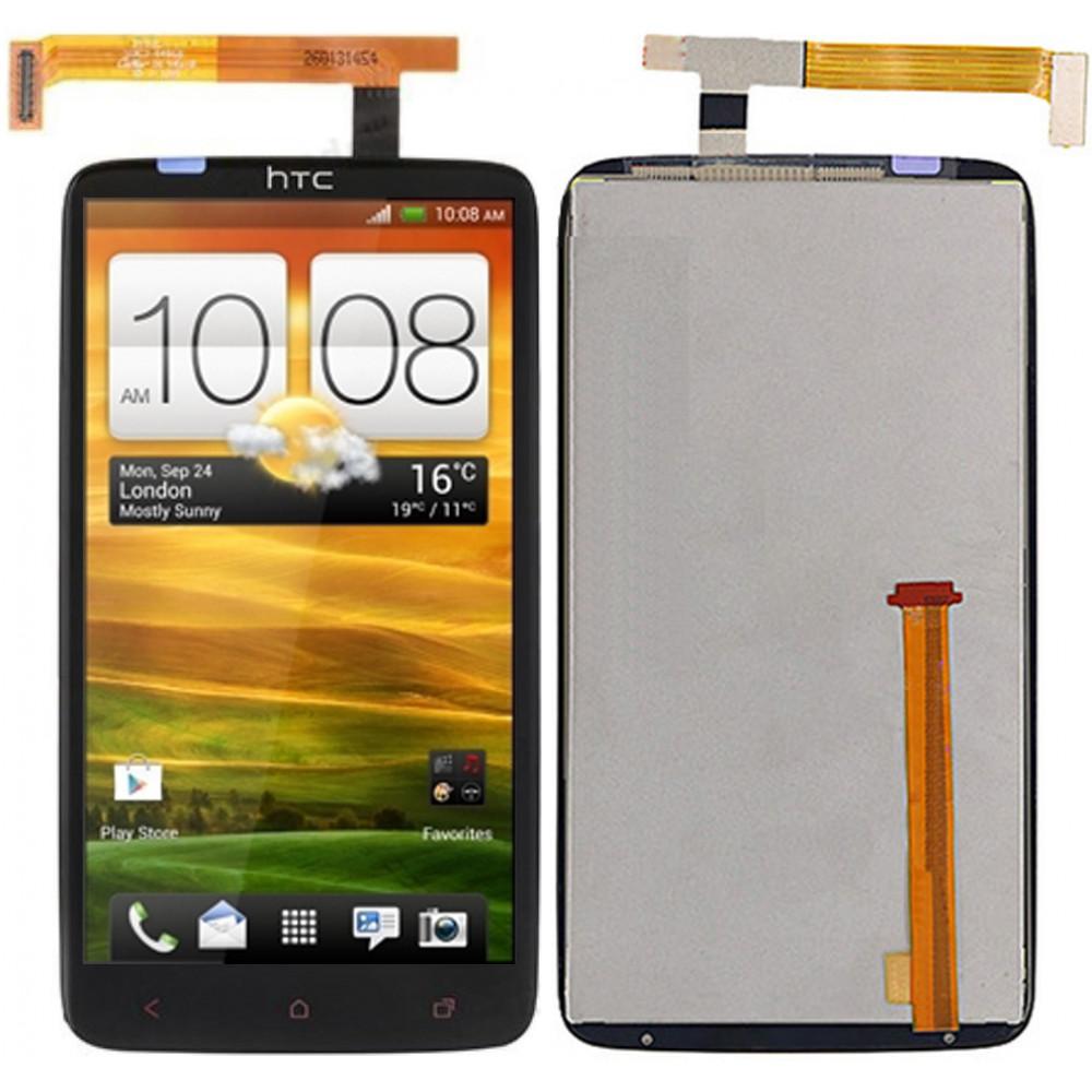 Дисплей для HTC One X+ в сборе с тачскрином, черный