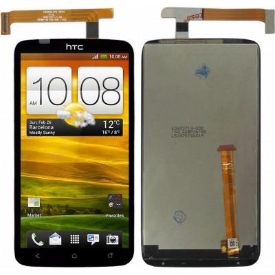 Дисплей для HTC One X в сборе с тачскрином, черный