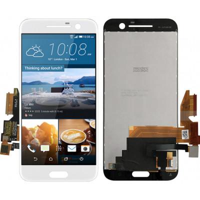 Дисплей для HTC 10 (One M10) в сборе с тачскрином, белый