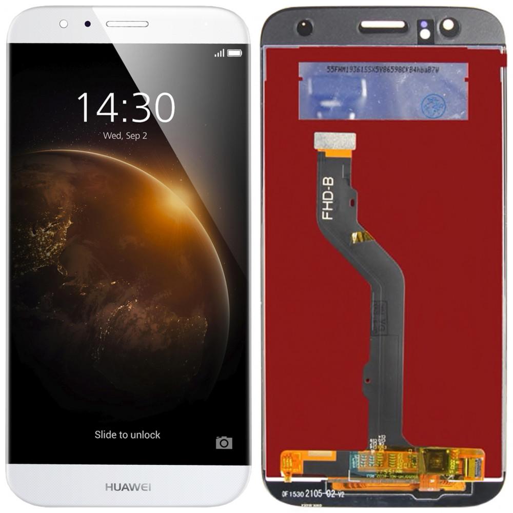 Дисплей для Huawei G8 / G7 Plus в сборе с тачскрином, белый
