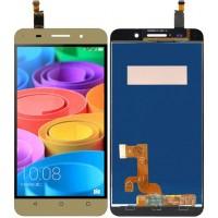 Дисплей для Huawei Honor 4X в сборе с тачскрином, золото