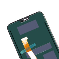 Дисплей для Huawei Honor 10 (COL-L29) в сборе с тачскрином и датчиком отпечатка пальца, черный