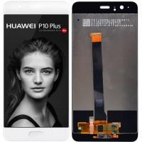 Дисплей для Huawei P10 Plus в сборе с тачскрином и датчиком отпечатка пальца, белый