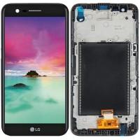 Дисплей для LG K8 2017 (X240) в сборе с тачскрином и рамкой, черный