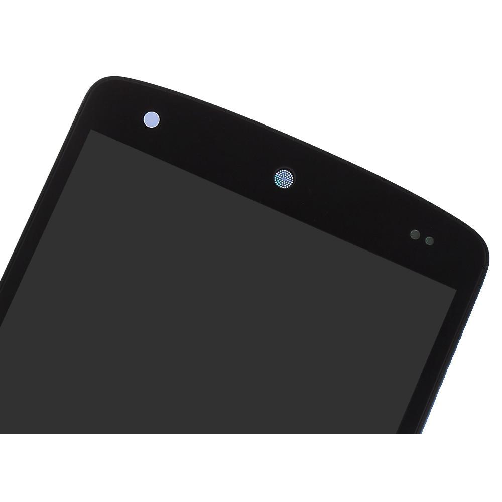 Дисплей для LG Nexus 5 (D820) в сборе с тачскином и рамкой, черный