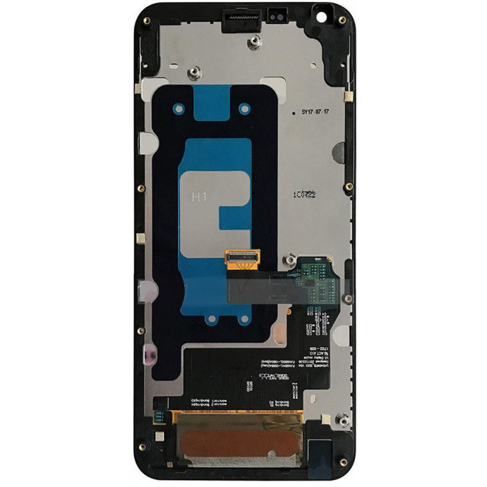 Дисплей для LG Q6 в сборе с тачскрином и рамкой, черный