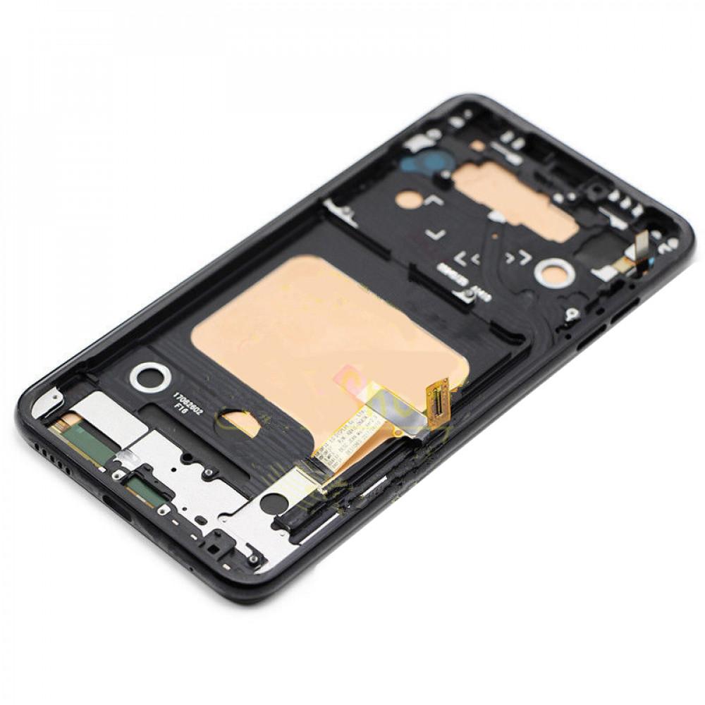 Дисплей для LG V30 Plus (V30) в сборе с тачскрином и рамкой, черный