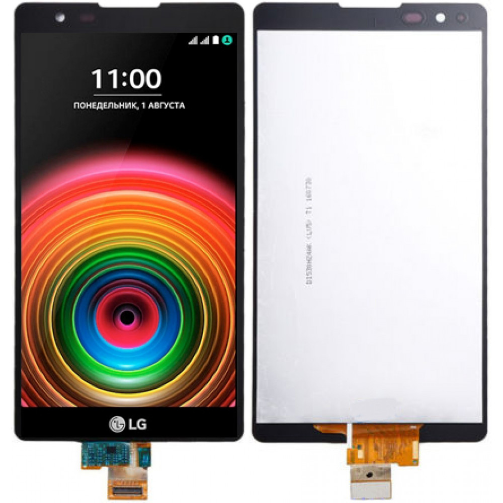 Дисплей для LG X Power (К220DS) в сборе с тачскрином, черный