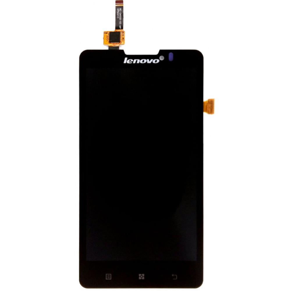 Дисплей для Lenovo P780 в сборе с тачскрином, черный