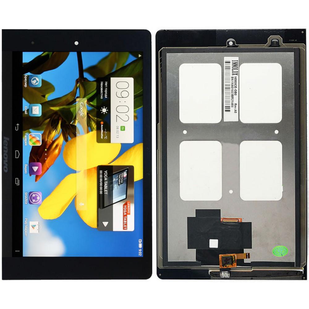 Дисплей для Lenovo Yoga Tablet 8 в сборе с тачскрином, черный