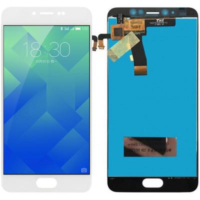 Дисплей для Meizu M5 в сборе с тачскрином, белый
