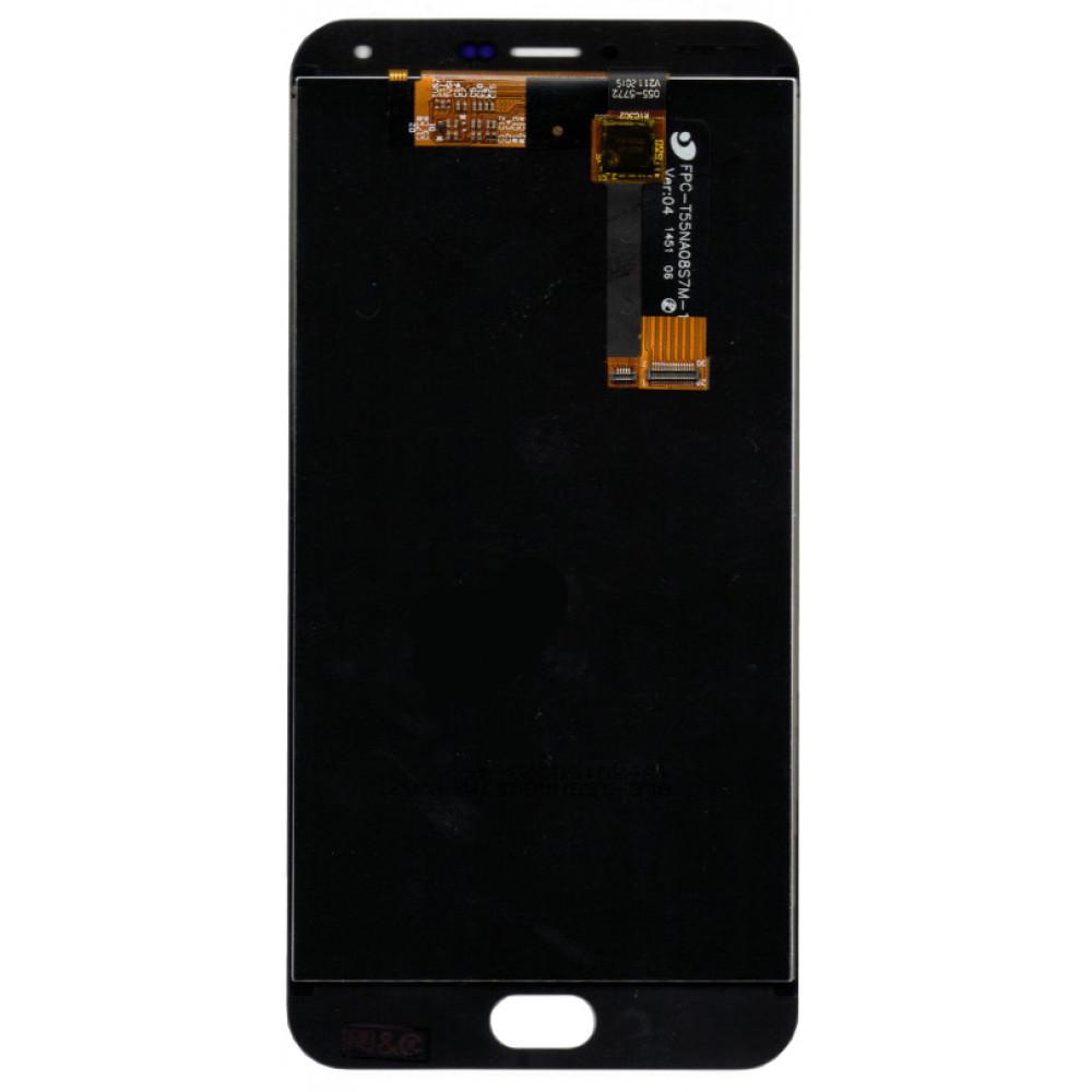 Дисплей для Meizu M2 Note в сборе с тачскрином, черный