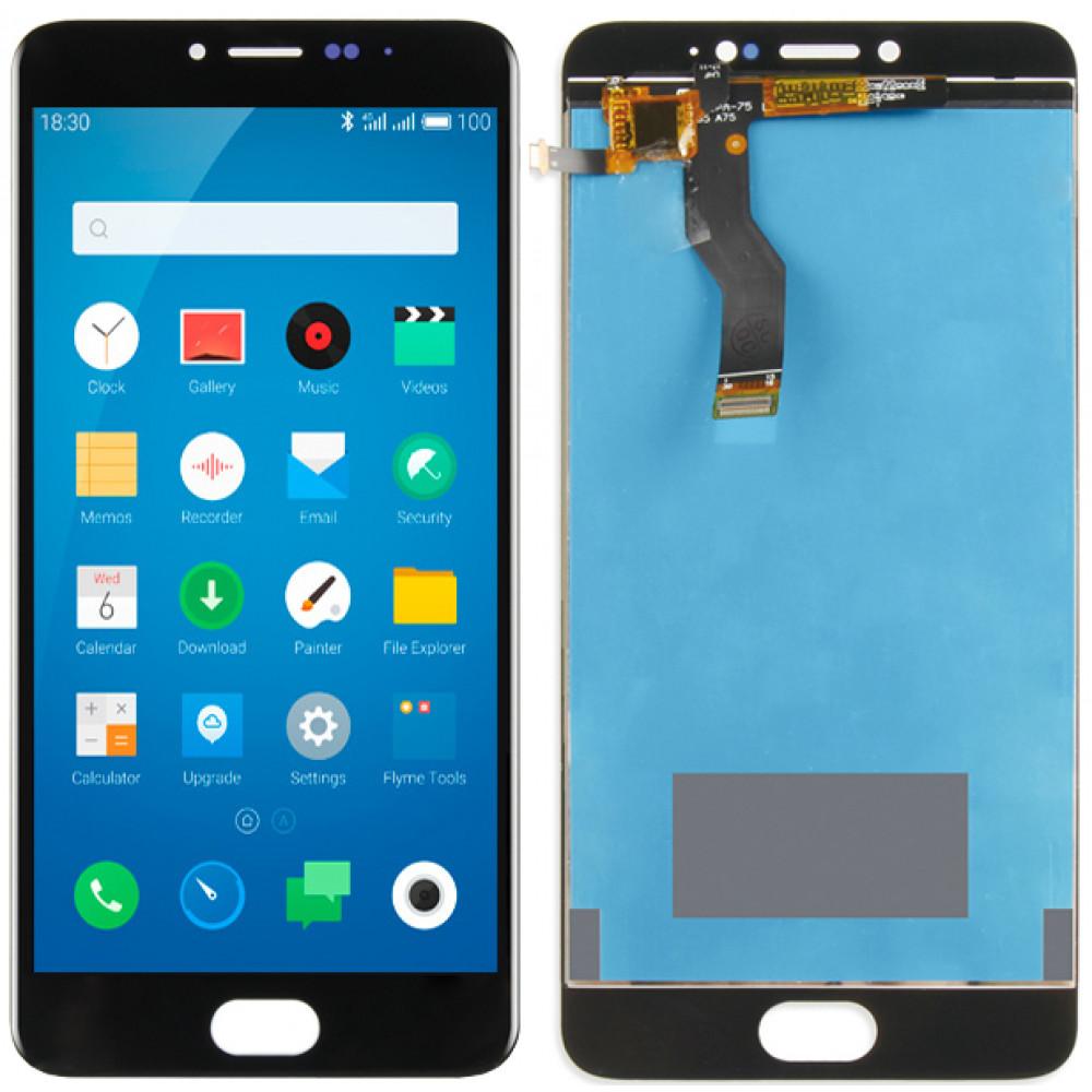 Дисплей для Meizu M3 Note (L681h) в сборе с тачскрином, черный