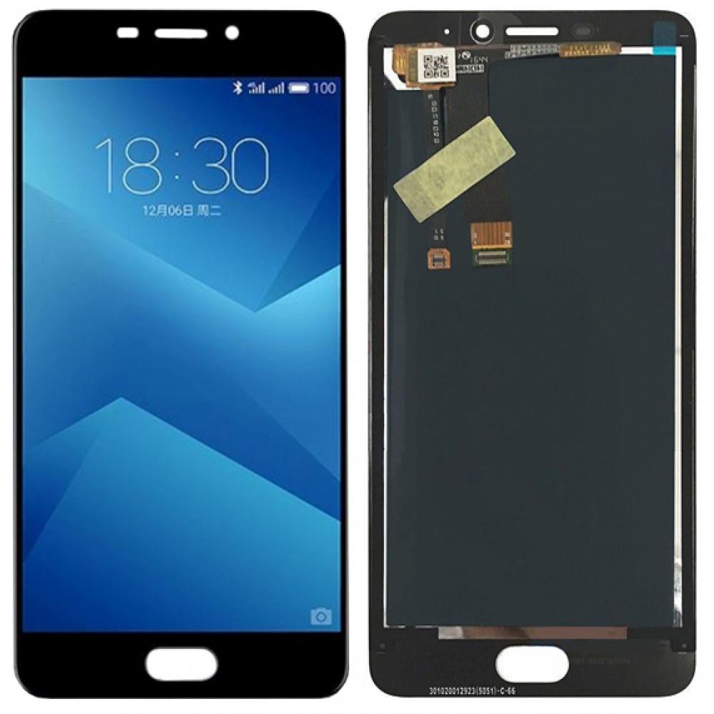 Дисплей для Meizu M5 Note в сборе с тачскрином, черный