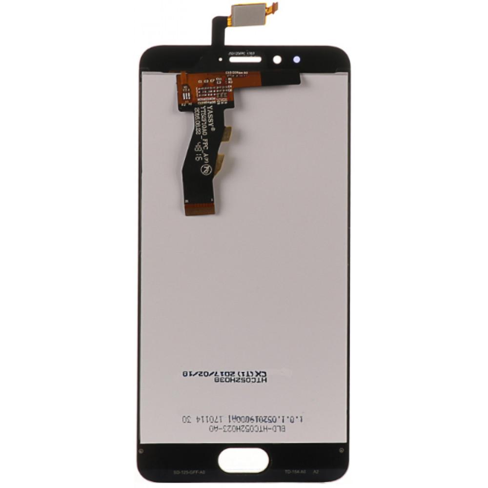 Дисплей для Meizu M5s в сборе с тачскрином, черный