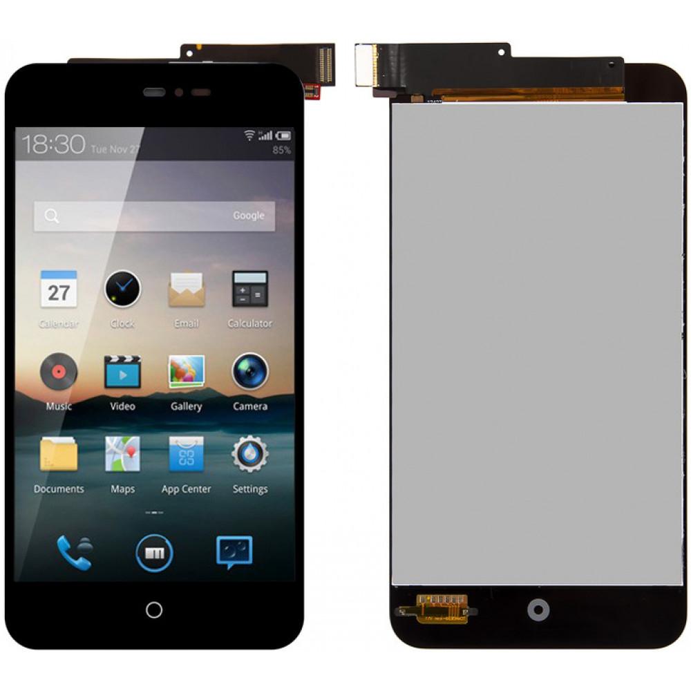 Дисплей для Meizu MX2 в сборе с тачскрином, черный