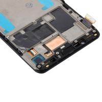 Дисплей для Meizu Pro 6 Plus в сборе с тачскрином и рамкой, черный