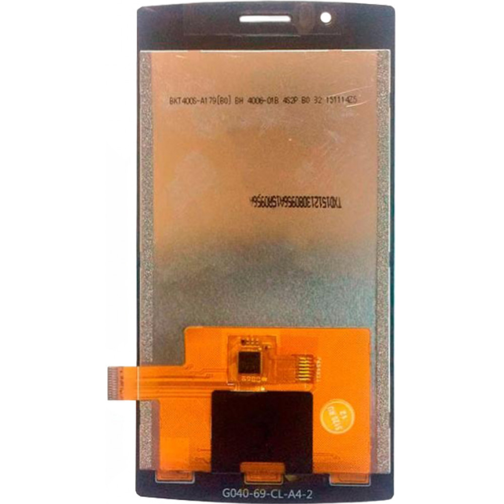 Дисплей для Philips Xenium S307 в сборе с тачскрином, черный