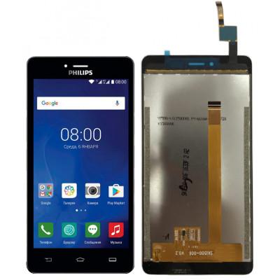 Дисплей для Philips Xenium S326 в сборе с тачскрином, черный