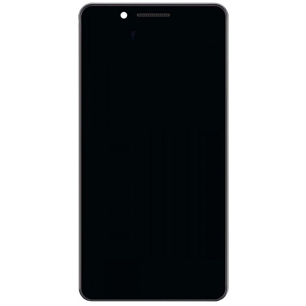 Дисплей для Philips S327 в сборе с тачскрином и рамкой, черный