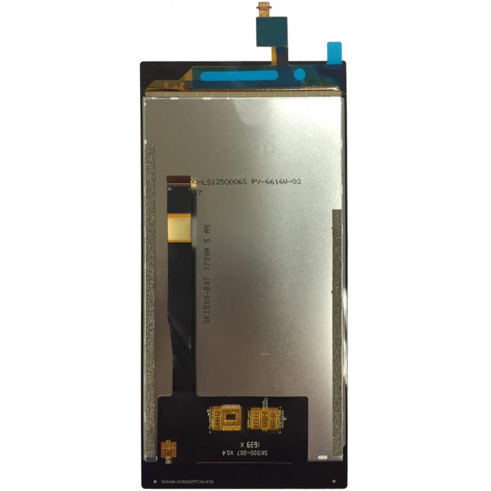 Дисплей для Philips Xenium X586 в сборе с тачскрином, черный