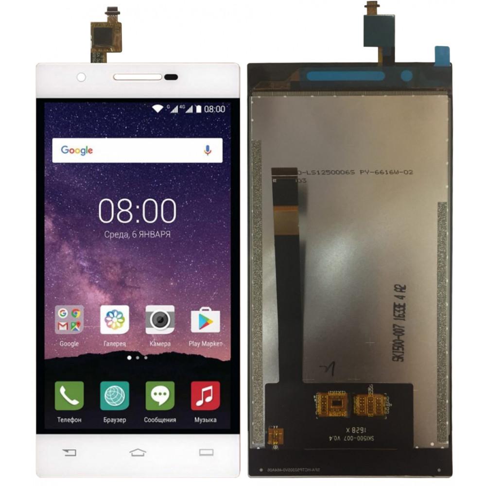 Дисплей для Philips Xenium X586 в сборе с тачскрином, белый