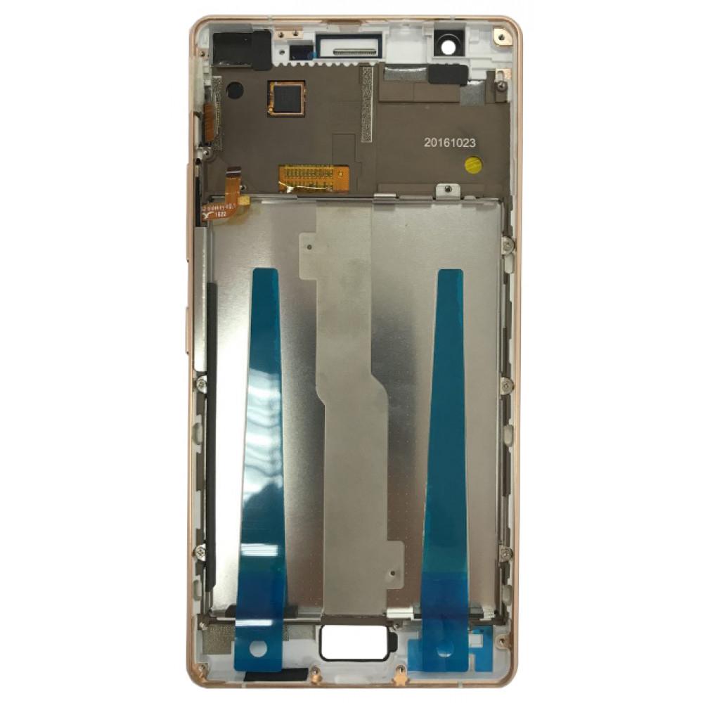 Дисплей для Philips Xenium X818 в сборе с тачскрином и рамкой, белый