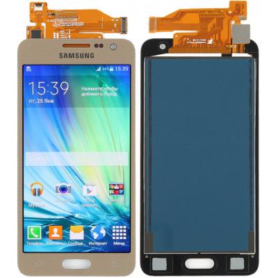 Дисплей для Samsung Galaxy A3 (A300F 2015) в сборе с тачскрином, золотой