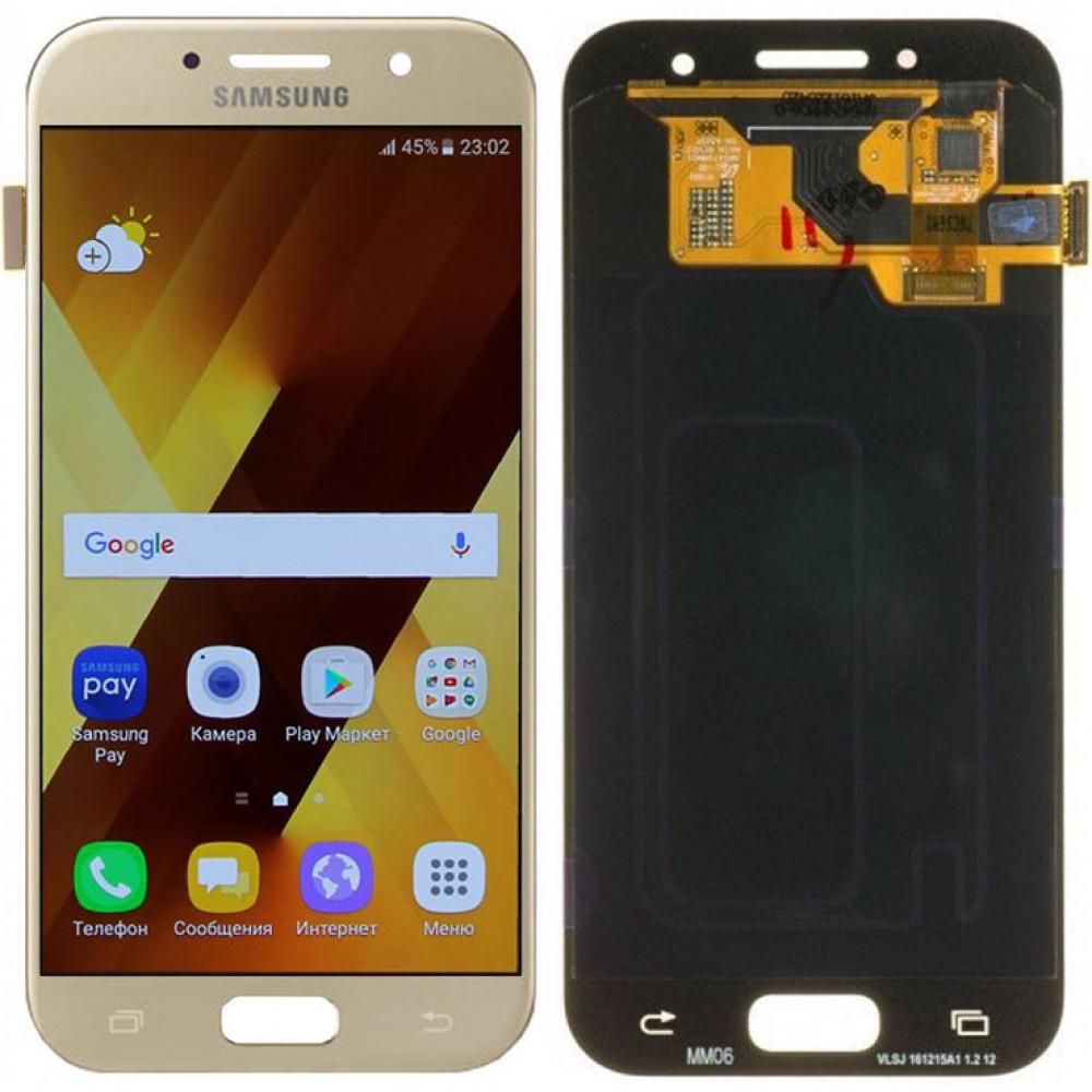 Дисплей для Samsung Galaxy A3 (A320F 2017) в сборе с тачскрином, золотой