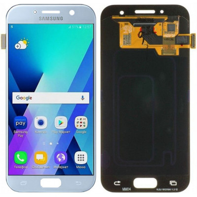 Дисплей для Samsung Galaxy A3 (A320F 2017) в сборе с тачскрином, голубой